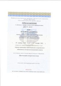 Приложение к диплому о профессиональной переподготовке 1